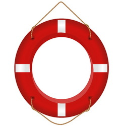 red lifesaver vector image
