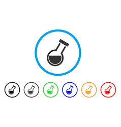 retort rounded icon vector image