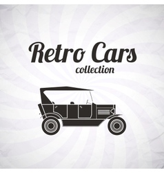 Retro cabriolet car vintage collection vector