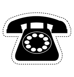 retro telephone isolated icon vector image