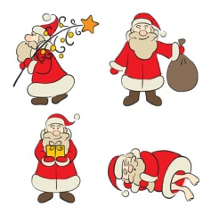 Santa Claus icons vector image