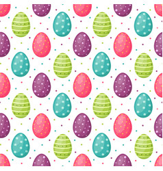 seamless pattern with easter egg happy easter vector image