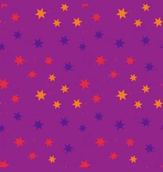shiny falling stars seamless pattern vector image