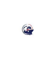 ship cargo icon logo vector image