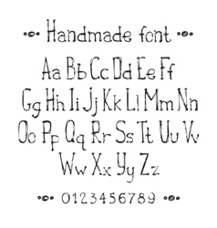Simple monochrome hand drawn font Complete abc vector image