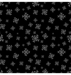 Snowflakes seamless pattern Black christmas vector image