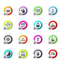 Spa icons set vector