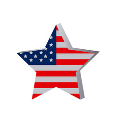 Star independece day flag icon vector