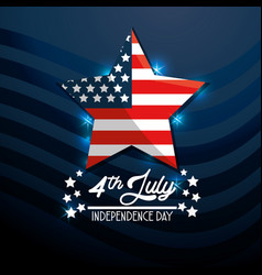 Star usa flag independence day vector