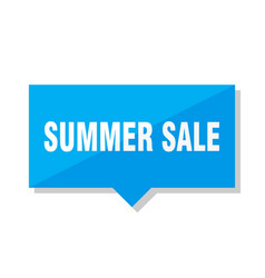 Summer sale price tag vector