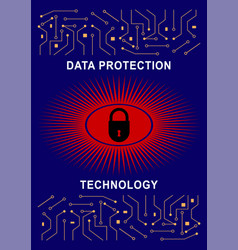 system protection technology vector image