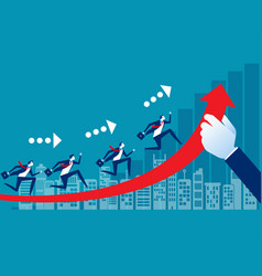 team with business growth concept business path vector image