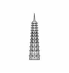 Temple icon outline style vector