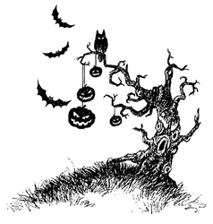 tree of devil vector image
