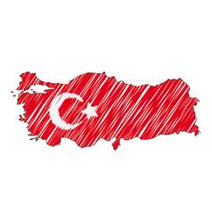 Turkey map hand drawn sketch concept vector