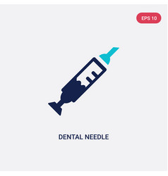 Two color dental needle icon from dentist concept vector