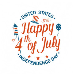 vintage 4th july design in retro style vector image
