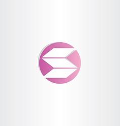 violet letter s logo circle logotype vector image