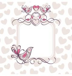 Wedding frame vector
