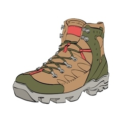 Womens Hiking shoes vector