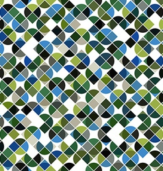 Abstract mosaic retro seamless pattern in green vector image vector image