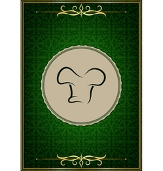 Green abstract restaurant menu cover vector image