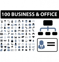 100 business office signs vector image vector image