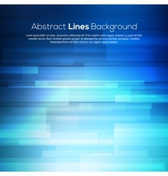 Blue abstract lines business background vector image vector image