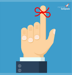 businessmans hand with red bow vector image
