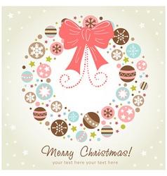 Creative design Christmas wreath vector image vector image