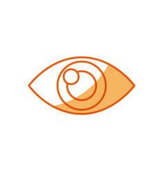 human eye optical vision design vector image