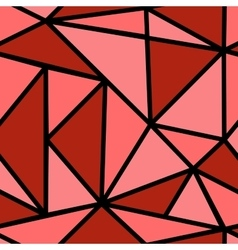 Pattern with red triangle vector image vector image