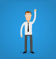 satisfy business man and ok sign vector image