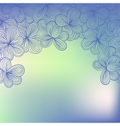border with abstract hand-drawn floral pattern vector image