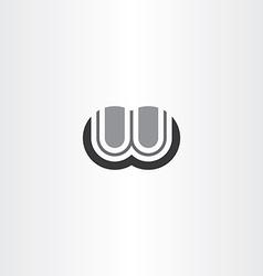 letter w black sign logo element vector image
