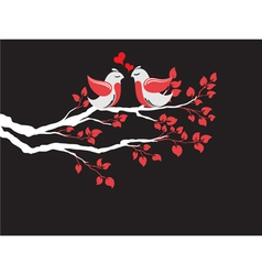 love birds on branch vector image vector image