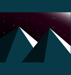 moon night mountain background vector image