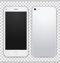 smartphone template front and black view vector image