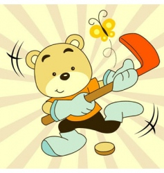 sport bear vector image vector image
