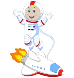 Cute astronaut cartoon vector image vector image