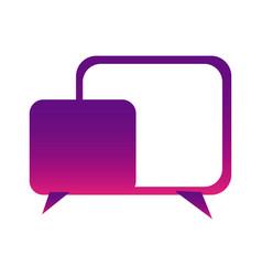 purple square chat bubbles icon vector image vector image
