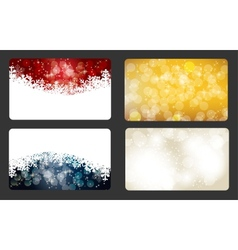 Set of christmas New Year banners cards vector image vector image