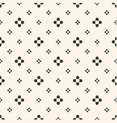 simple floral texture vintage geometric pattern vector image vector image