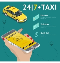 Taxi service taxi mobile app template set vector