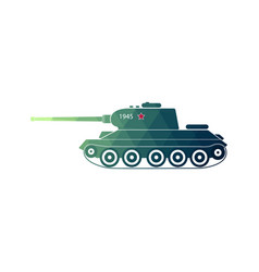 world war two battle tank vector image