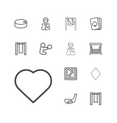 13 playing icons vector