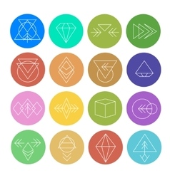 Abstract Geometric Patterns Set with Hipster Style vector