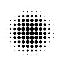 Abstract halftone circle gradation background vector
