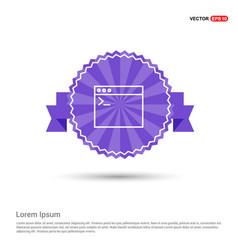 application window interface icon - purple ribbon vector image