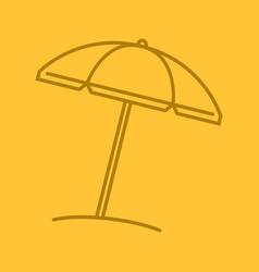 beach umbrella color linear icon vector image